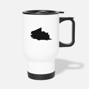 Neighborhood Plano Texas city map black illustration silhouette - Travel Mug