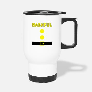 Dwarf Bashful Dwarf Halloween Costume Brown Shirt - Travel Mug