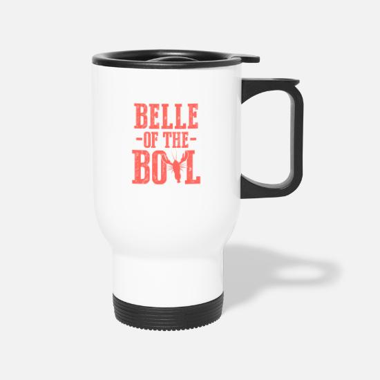 South Mugs & Drinkware - Crawfish Red Seafood Lover Gift Belle Of The Boil - Travel Mug white