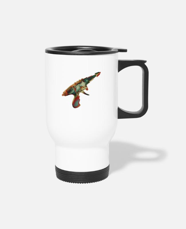 Geeky Mugs & Cups - Raygun1 No.2 - Travel Mug white