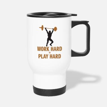 Hard Drive work hard play hard - Travel Mug