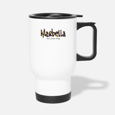 Spanish Marbella T-Shirt Pure Summer Feeling Colorsplash - Travel Mug