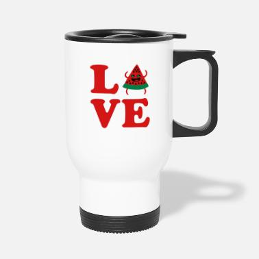 Laughing Silly Hilrarious Summer Fruit Designs For ❤Love Watermelon-Best Hot Summer Fruit❤ - Travel Mug