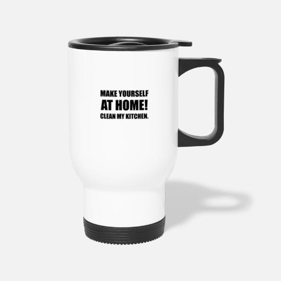 Cleaning Mugs & Drinkware - At Home Clean My Kitchen - Travel Mug white