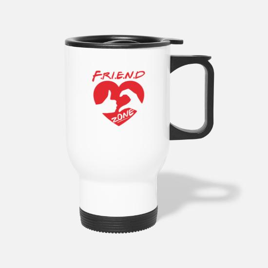 Friendzone Mugs & Drinkware - Friendzone - Travel Mug white