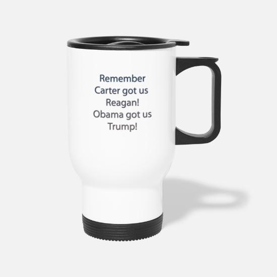 Obama Mugs & Drinkware - carter-reagan - Travel Mug white