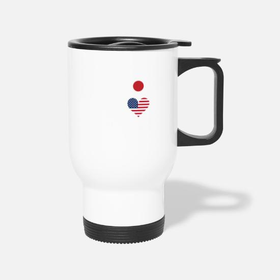 Love Mugs & Drinkware - 50% Japanese 50% American 100% Beautiful - Travel Mug white