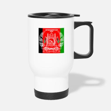 Mobile Afghan Logo-Flag Colors - Travel Mug