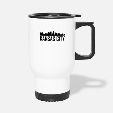 City Kansas City Missouri City Skyline - Travel Mug