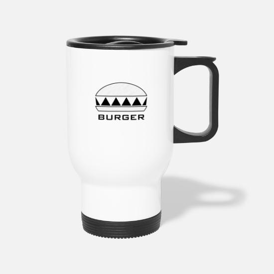 Lunch Mugs & Drinkware - Burger - Travel Mug white