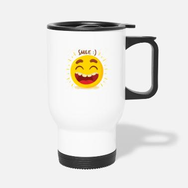 Laugh Laugh Laugh Happy - Travel Mug
