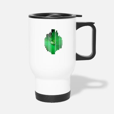 Dew Drop leaf green nature dew plain eco gift idea - Travel Mug