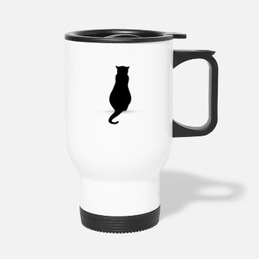 Silhouette Cat silhouette silhouettes - Travel Mug