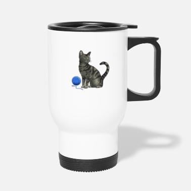 Thread Cat and a Thread - Travel Mug