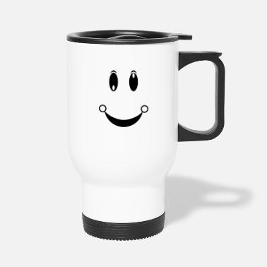 Happy Face happiness face - Travel Mug