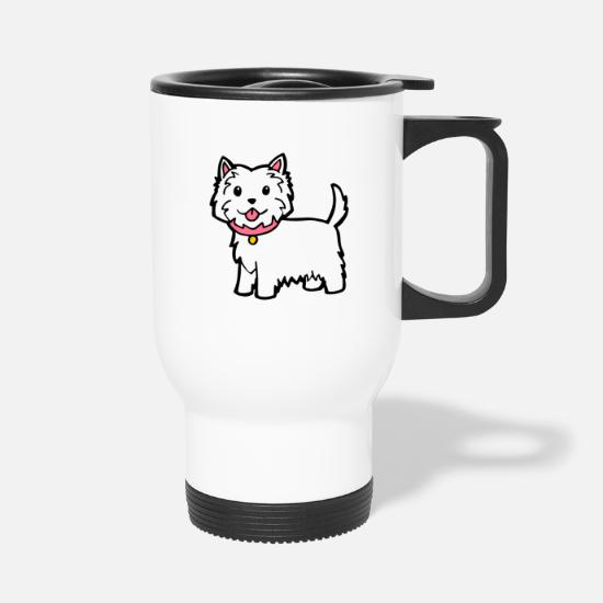 Cute Westie Dog Travel Mug - white