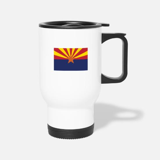 Sun Mugs & Drinkware - arizona-state-flag - Travel Mug white