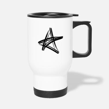 90 Min black star - Travel Mug