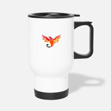 Mythological Phoenix With Scorpion Tail Icon - Travel Mug