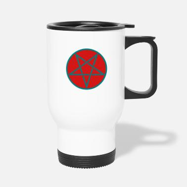 Sign Heavy Witches PPentagram in Circle 2c - Travel Mug