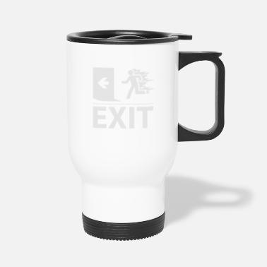 Emergency Exit emergency fire exit sign - Travel Mug