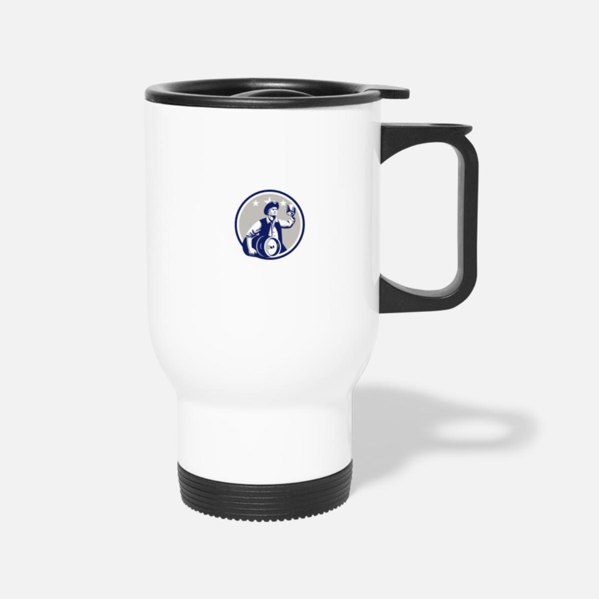 American Patriot Carry Beer Keg Circle Retro Travel Mug Spreadshirt