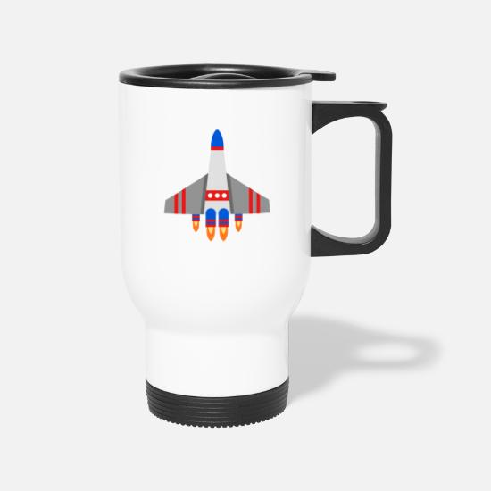 Missile Mugs & Drinkware - Spaceship - Travel Mug white