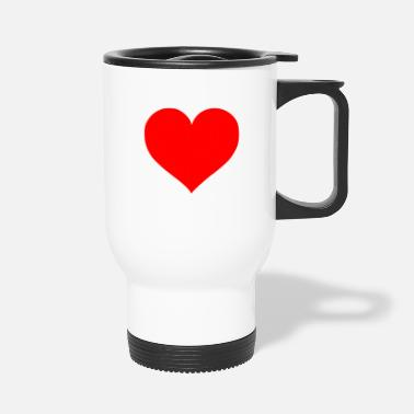 Cuore 2000px Love Heart SVG svg - Travel Mug