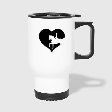 Dressage horse riding equitation - Travel Mug