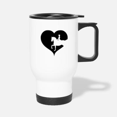 Equitation Dressage horse riding equitation - Travel Mug