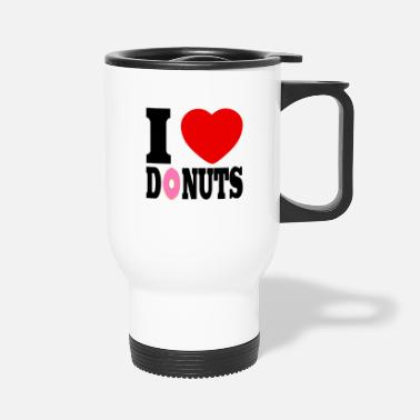 I Heart i love donuts, i heart - Travel Mug