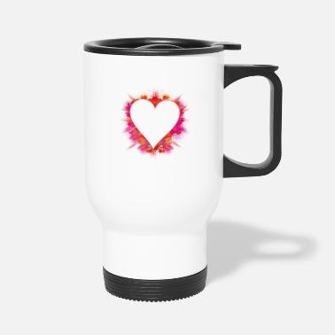 Explosion color intensive explosion - heart with red powder - Travel Mug
