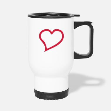 Outline heart outline - Travel Mug