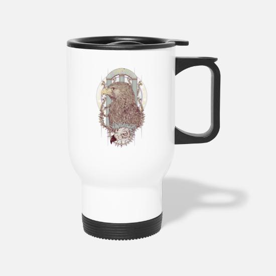 Romania Mugs & Drinkware - Roman Eagles - Travel Mug white