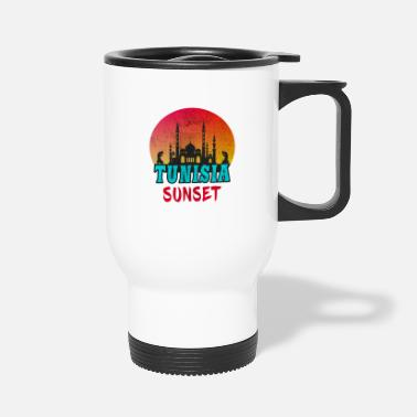 North Africa Tunisia Sunset Vintage / Gift Tunis North Africa - Travel Mug