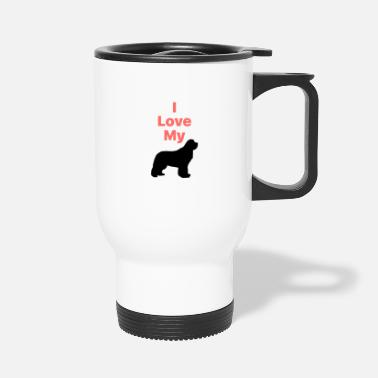 I Love My Newfie_Phone Case - Travel Mug