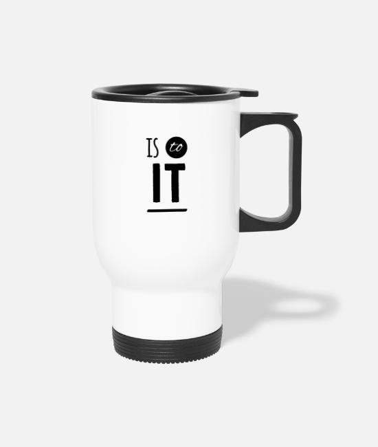 Funny Bowling Mugs & Cups - Is to it funny - Travel Mug white