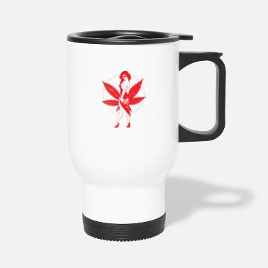 Vintage Weed Girl - Travel Mug