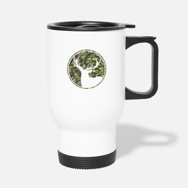 Deer Hunting Patch Deer Hunting Camouflage Patch - Travel Mug