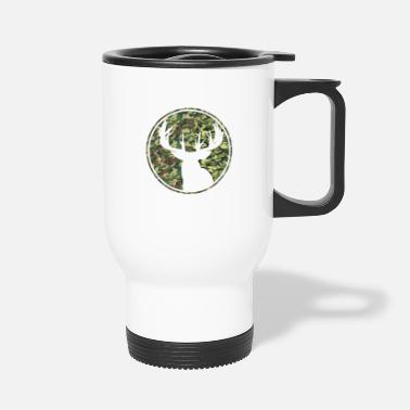 Deer Hunting Patch Deer Hunting Camouflage Patch 2 - Travel Mug