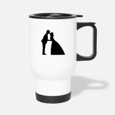 Gown Wedding kiss in bridal gown and suit - Travel Mug