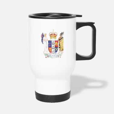 Zealand New Zealander Coat of Arms New Zealand Symbol - Travel Mug