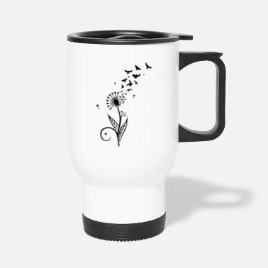 Dandelion Dandelion with flying birds. - Travel Mug