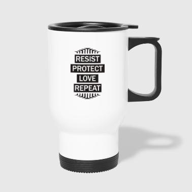 resist repeat - Travel Mug