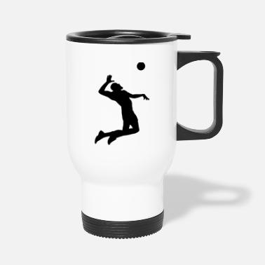 Beach Volleyball Beach Volleyball Player Sports - Travel Mug