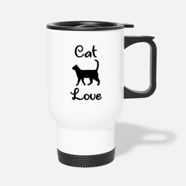 House Tiger Cat Love - Kitten - House Tiger - Travel Mug