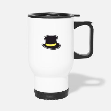 Black And Gold a black and gold top hat - Travel Mug