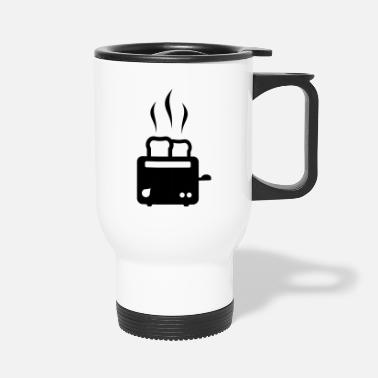 Hot Toast toaster - breakfast - food - Travel Mug