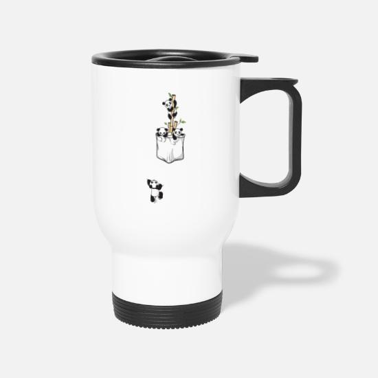 Awesome Mugs & Drinkware - panda family - Travel Mug white