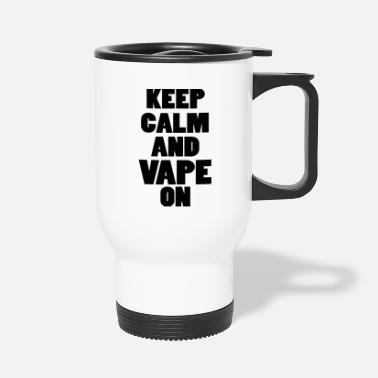 Smoker Vape steamer steaming vaping gift - Travel Mug